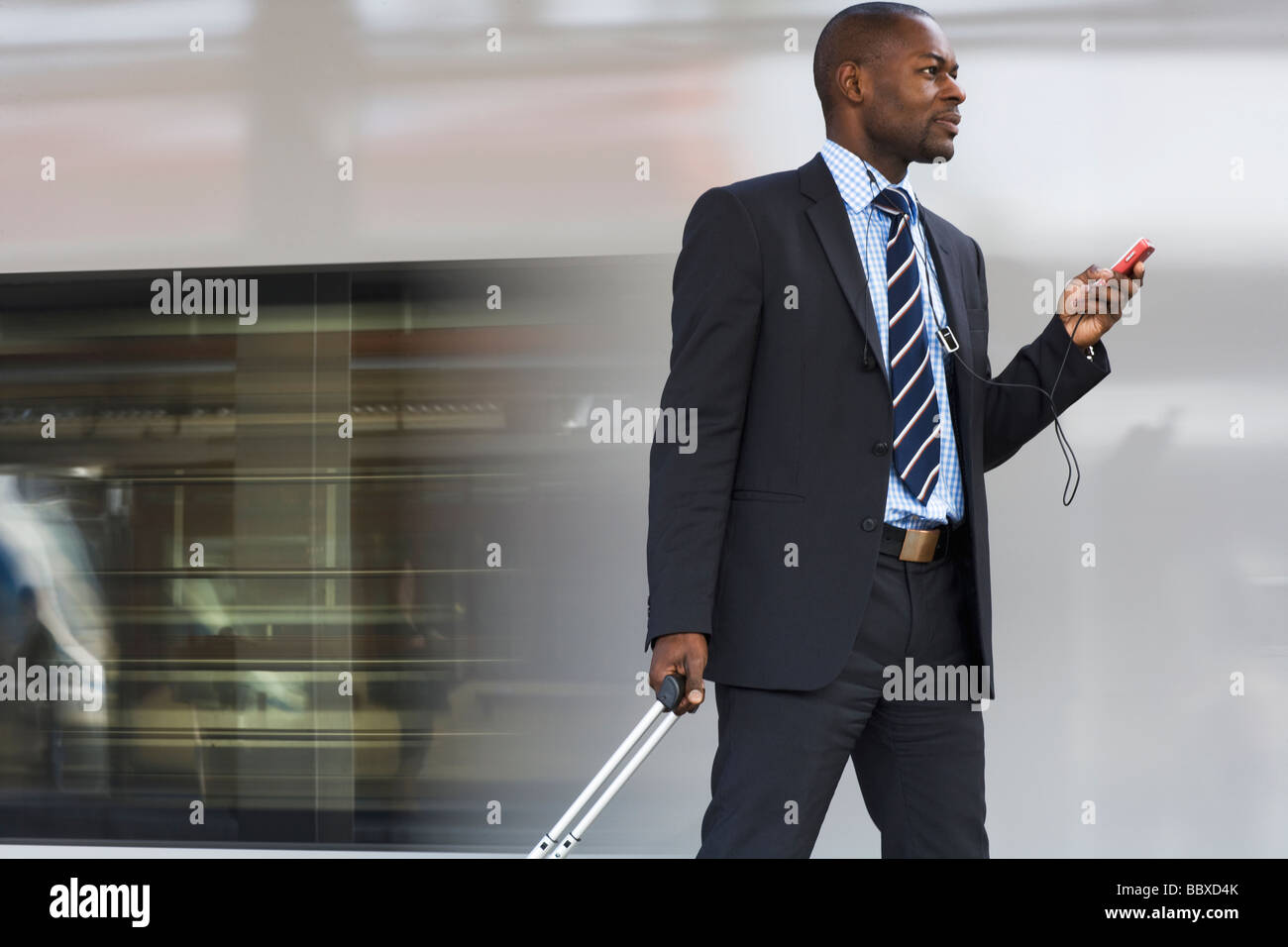 Businessman talking in a mobile phone Stockholm Sweden. - Stock Image