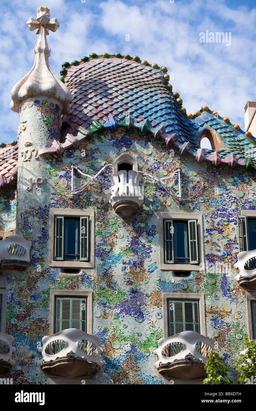 Casa Batllo, Barcelona, Spain - Stock Image