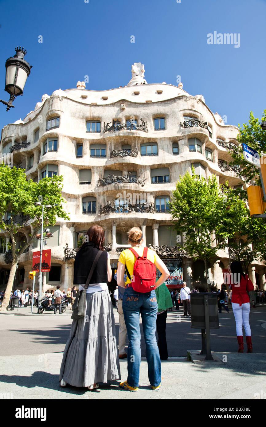 La Pedrera, by Gaudi, Barcelona, Spain - Stock Image