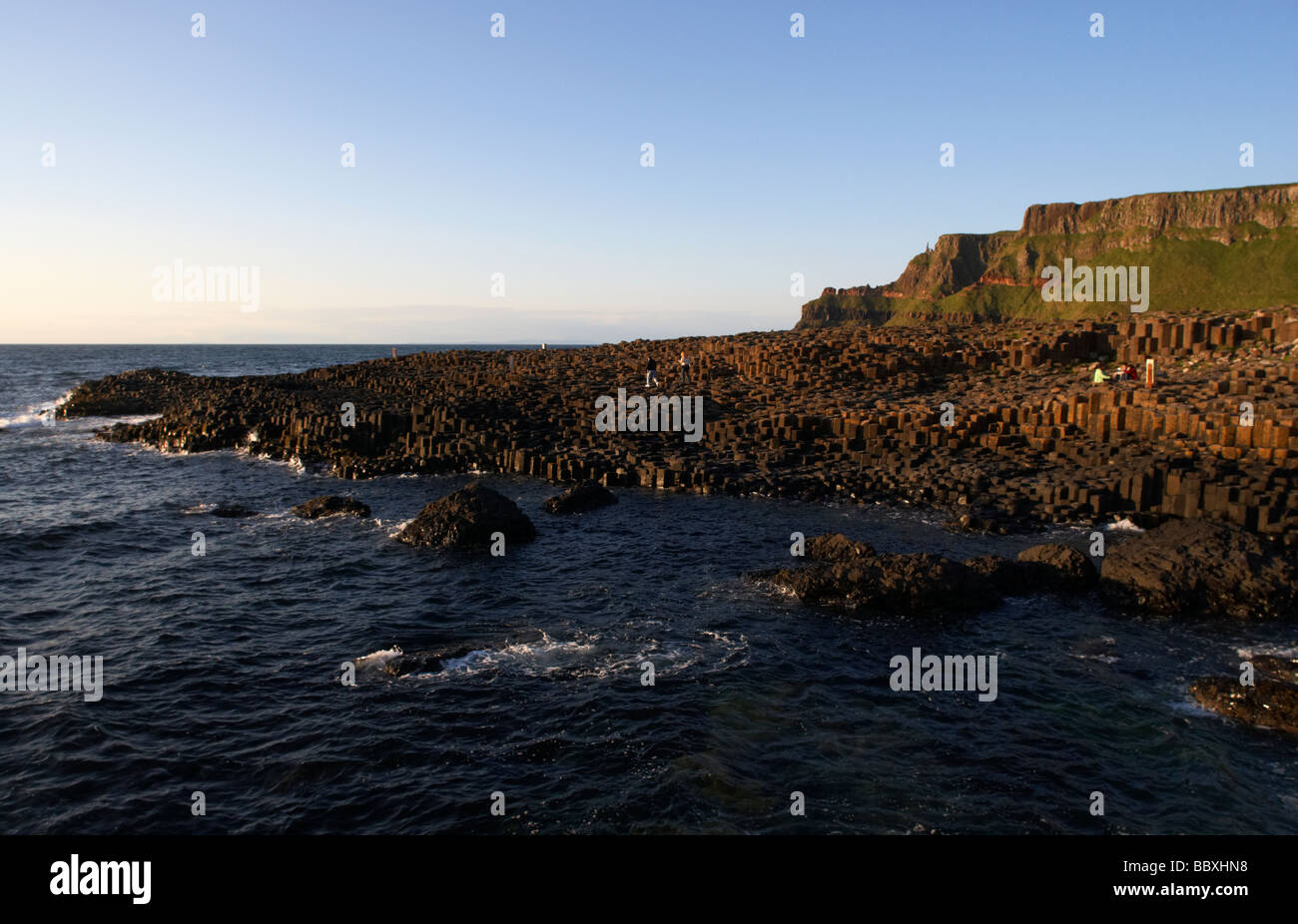giants causeway county antrim coast northern ireland uk europe - Stock Image
