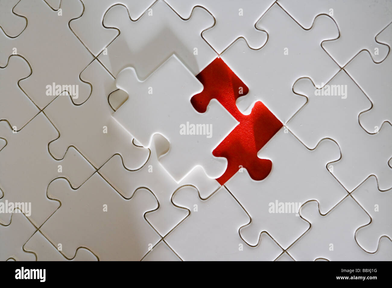 A white puzzle. - Stock Image