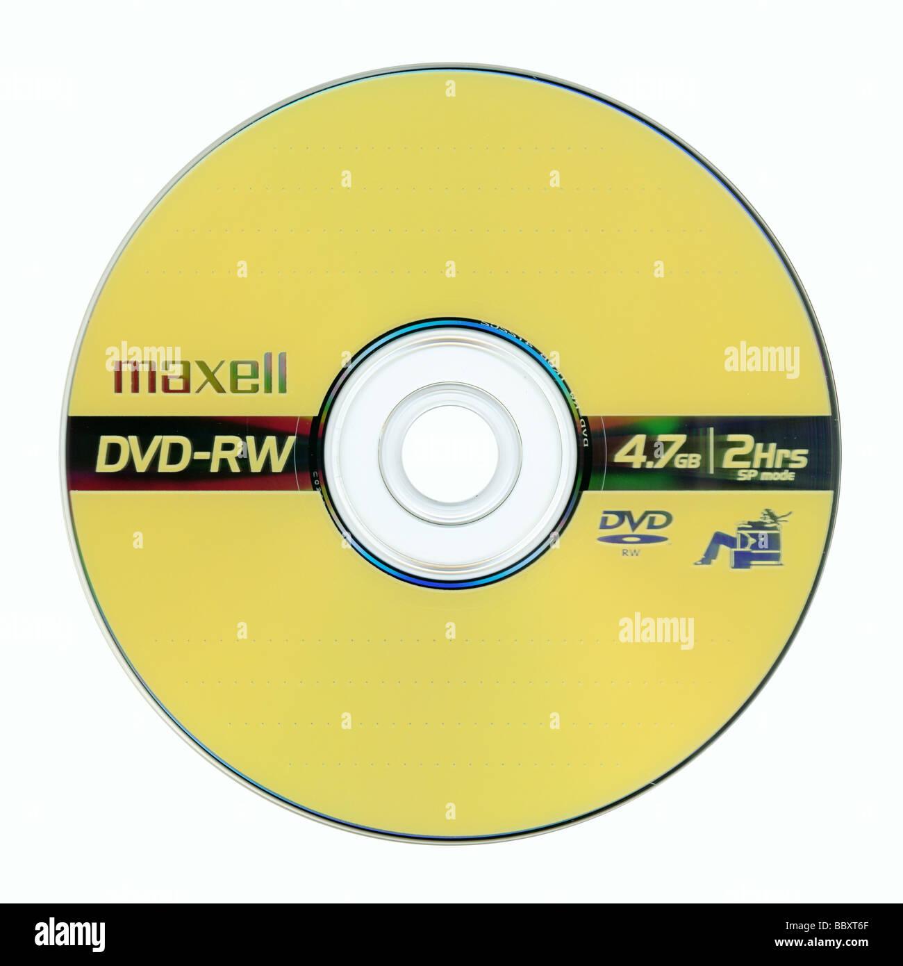 single sided DVD-RW - Stock Image