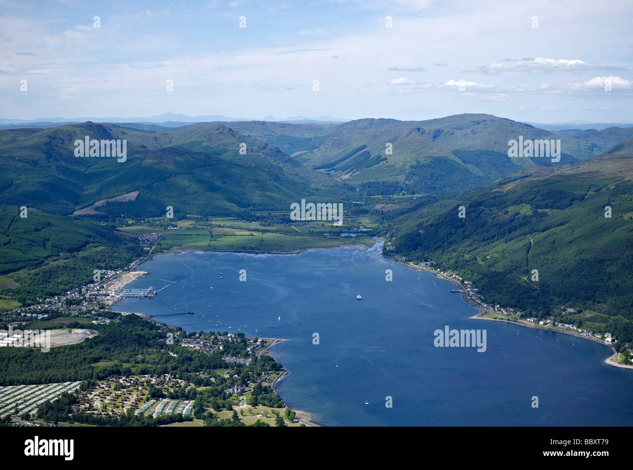 Holy Loch Scotland Map.Sandbank And Holy Loch Western Scotland With The Argyll Forest And