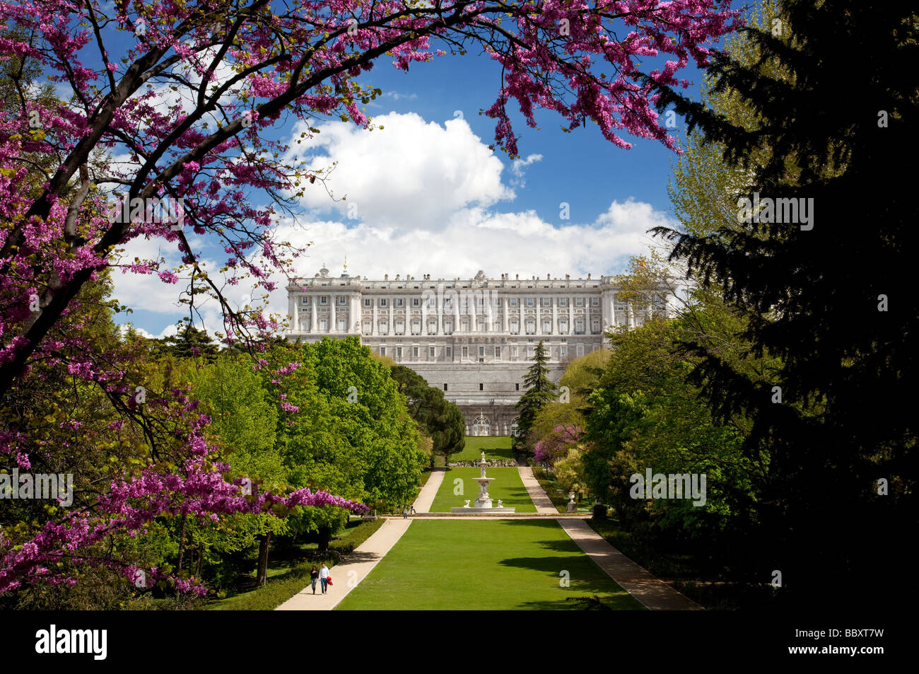 Royal Palace, Madrid Spain - Stock Image