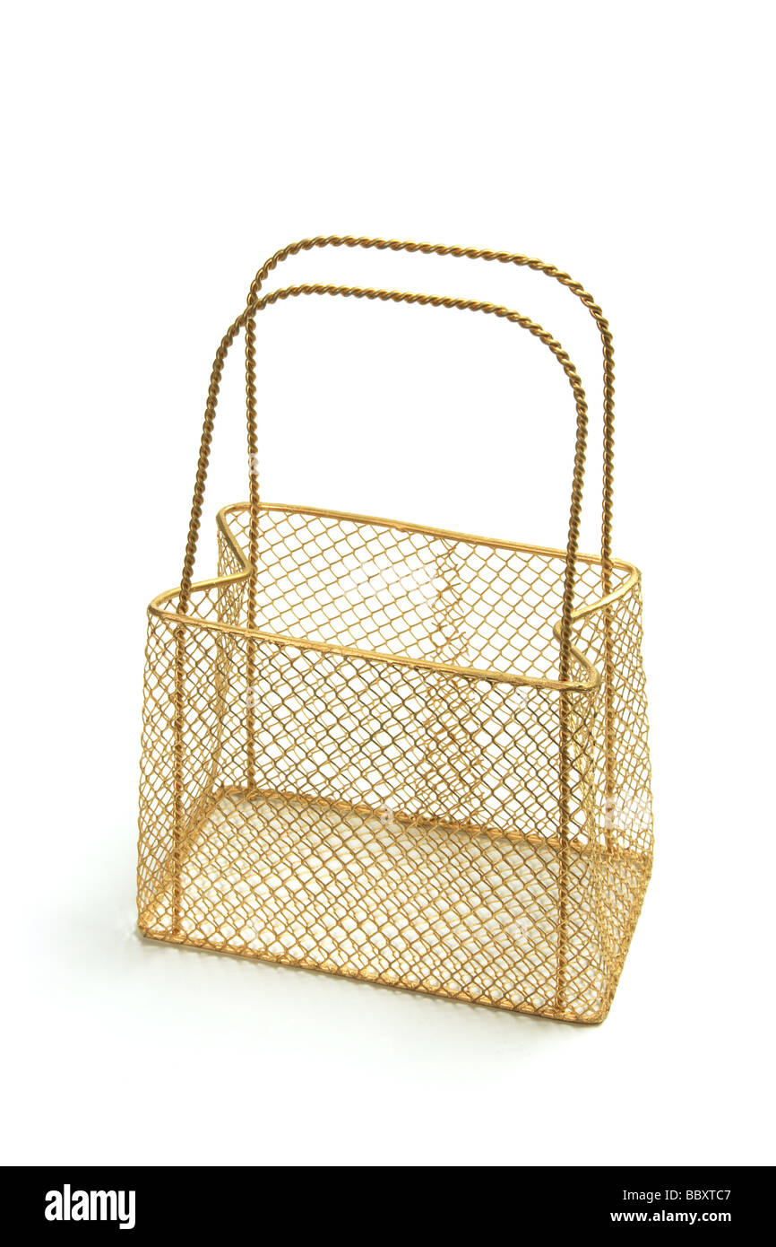 Wire Mesh Carry Basket Stock Photo