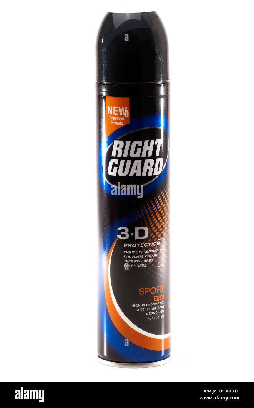 Can of 'Right Guard' spray deodorant - Stock Image