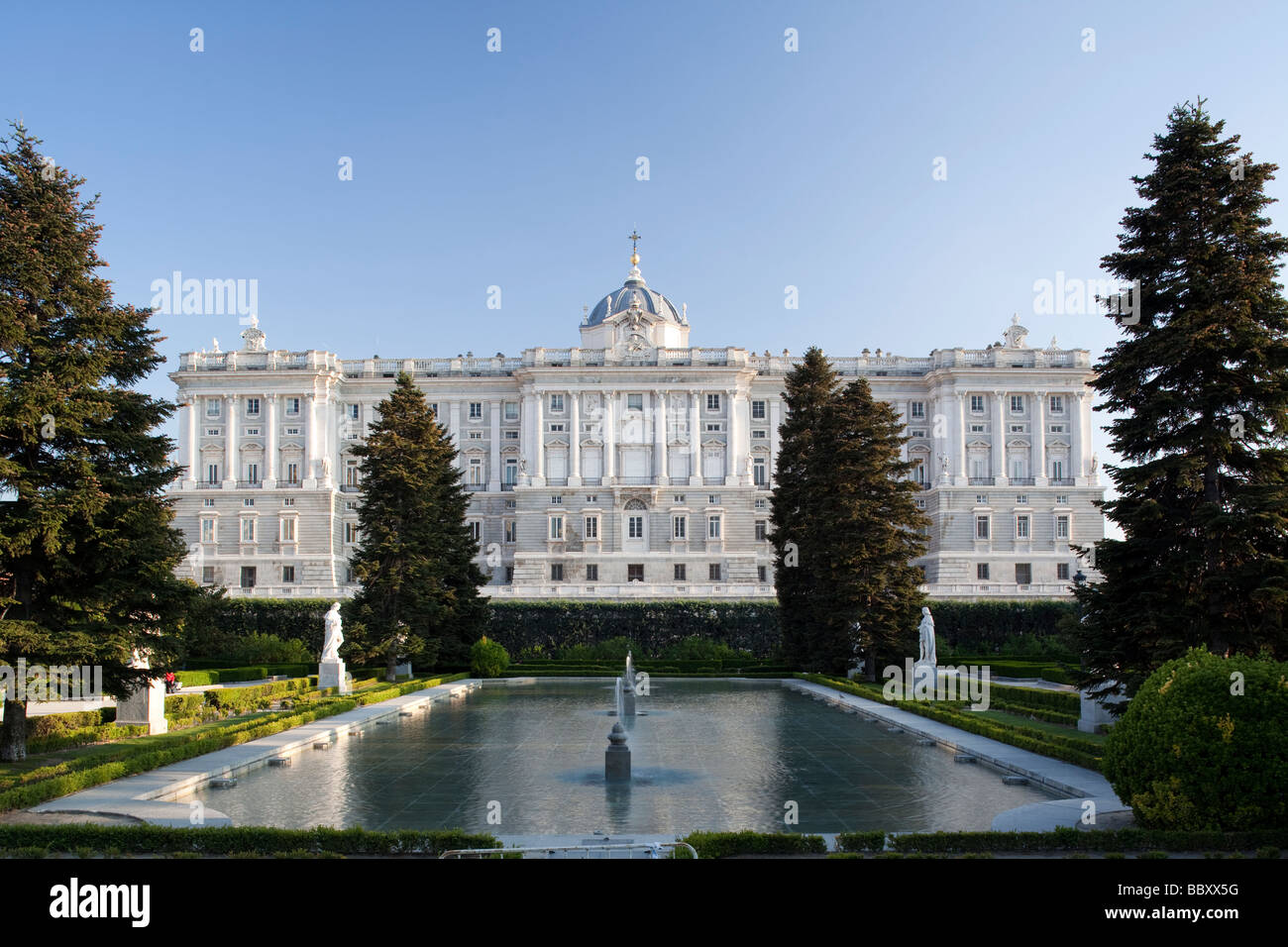 Royal Palace, Madrid, Spain - Stock Image