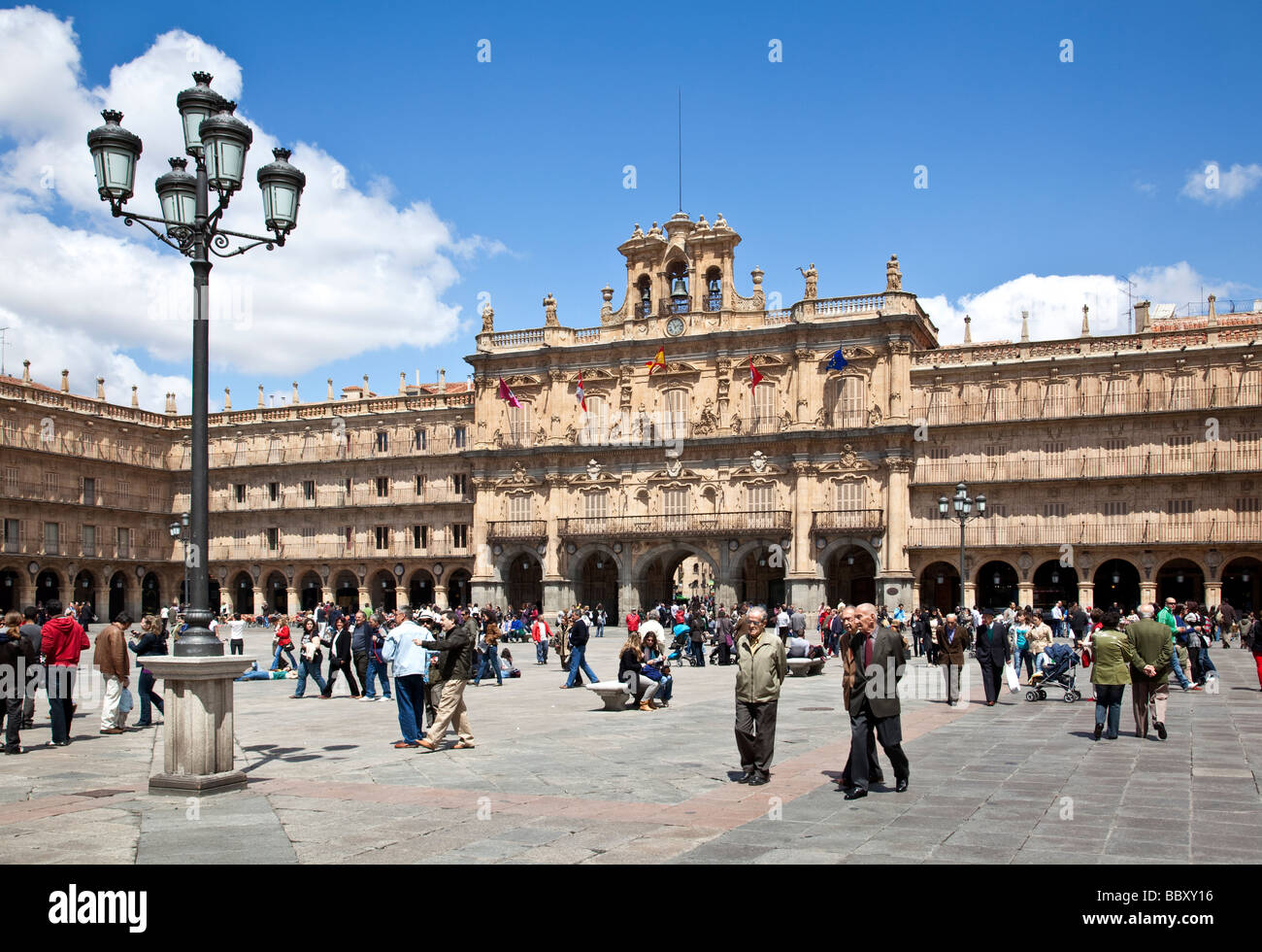 Plaza Mayor, Salamanca, Spain - Stock Image