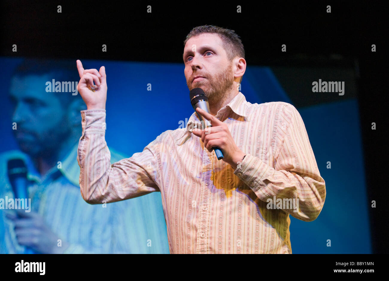 Dave Gorman English author comedian humorist filmmaker radio and television presenter pictured at Hay Festival 2009 - Stock Image