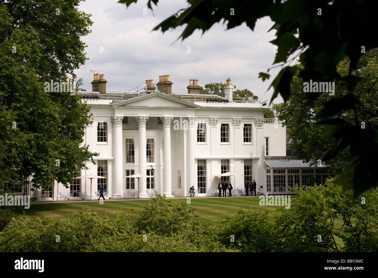 Hurlingham Private Members Clubhouse, Fulham, London, England, UK - Stock Image