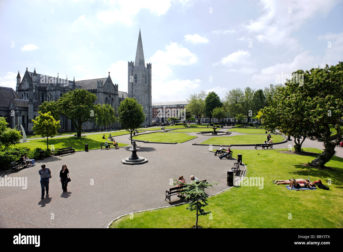 St Patrick s Cathedral and park Dublin Republic of Ireland Stock Photo