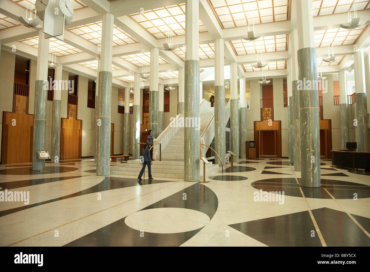 Marble Interior Lobby Parliament House Capital Hill Canberra ACT Australia    Stock Image