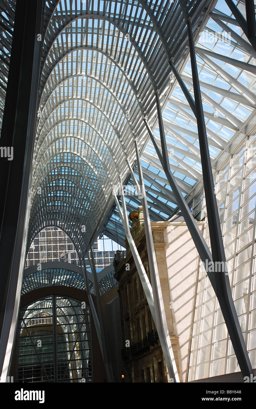 Galleria at Brookfield Place, BCE, Toronto, Canada - Stock Image