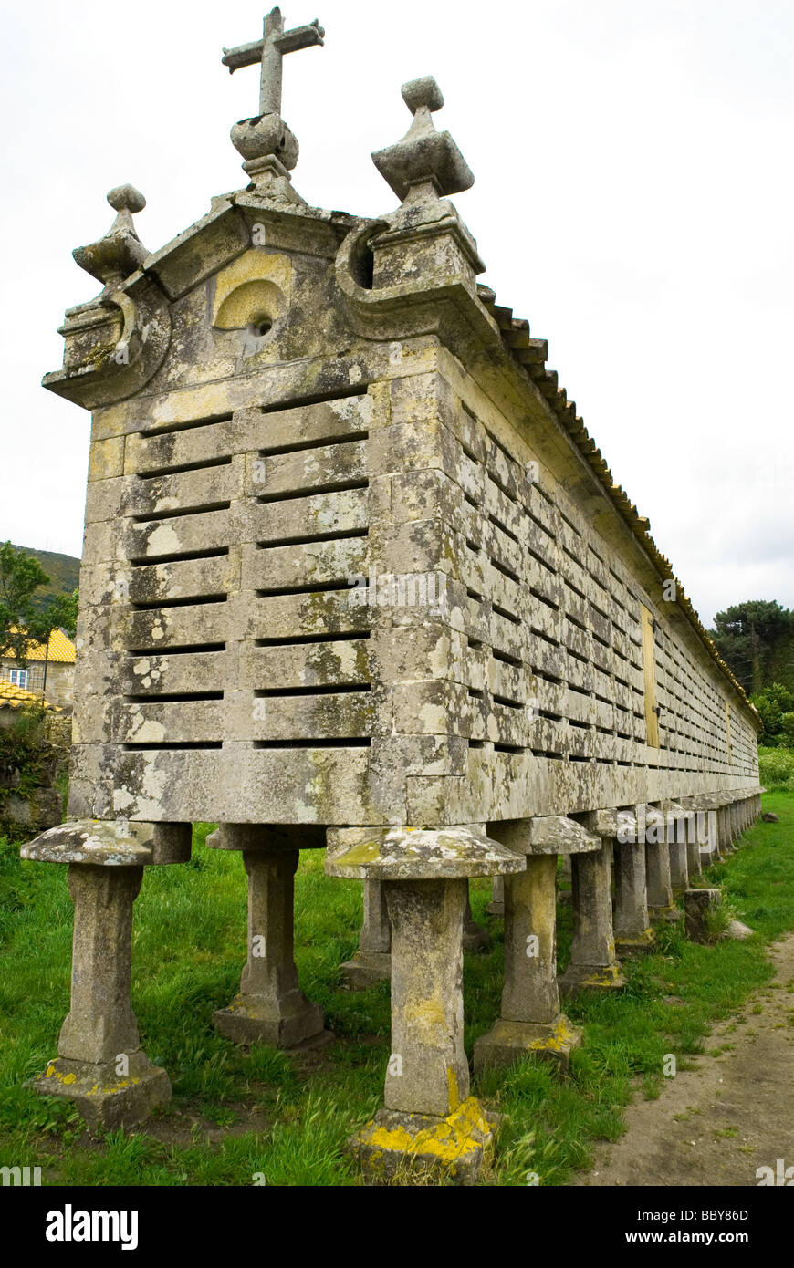 Horreo or traditional granary in Galicia , northwest Spain - Stock Image
