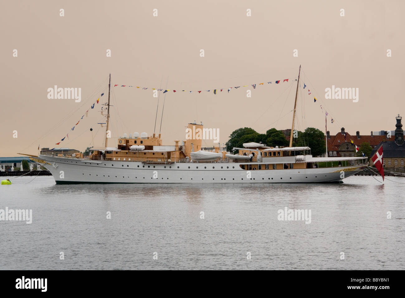 Denmark Copenhagen Royal yacht Dannebrog - Stock Image