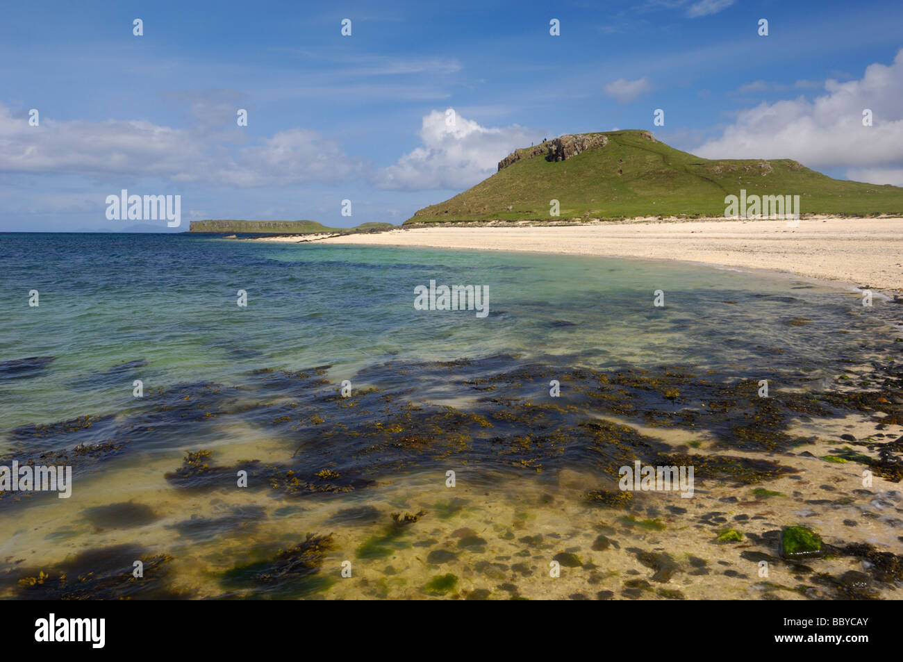 Coral Beach at An Dorneil, Loch Dunvegan, Isle of Skye, Scotland - Stock Image