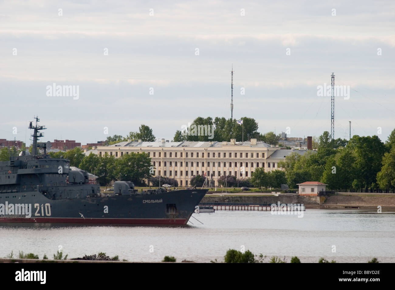 Russia St.Petersburg Kronshtadt fort, Naval base - Stock Image