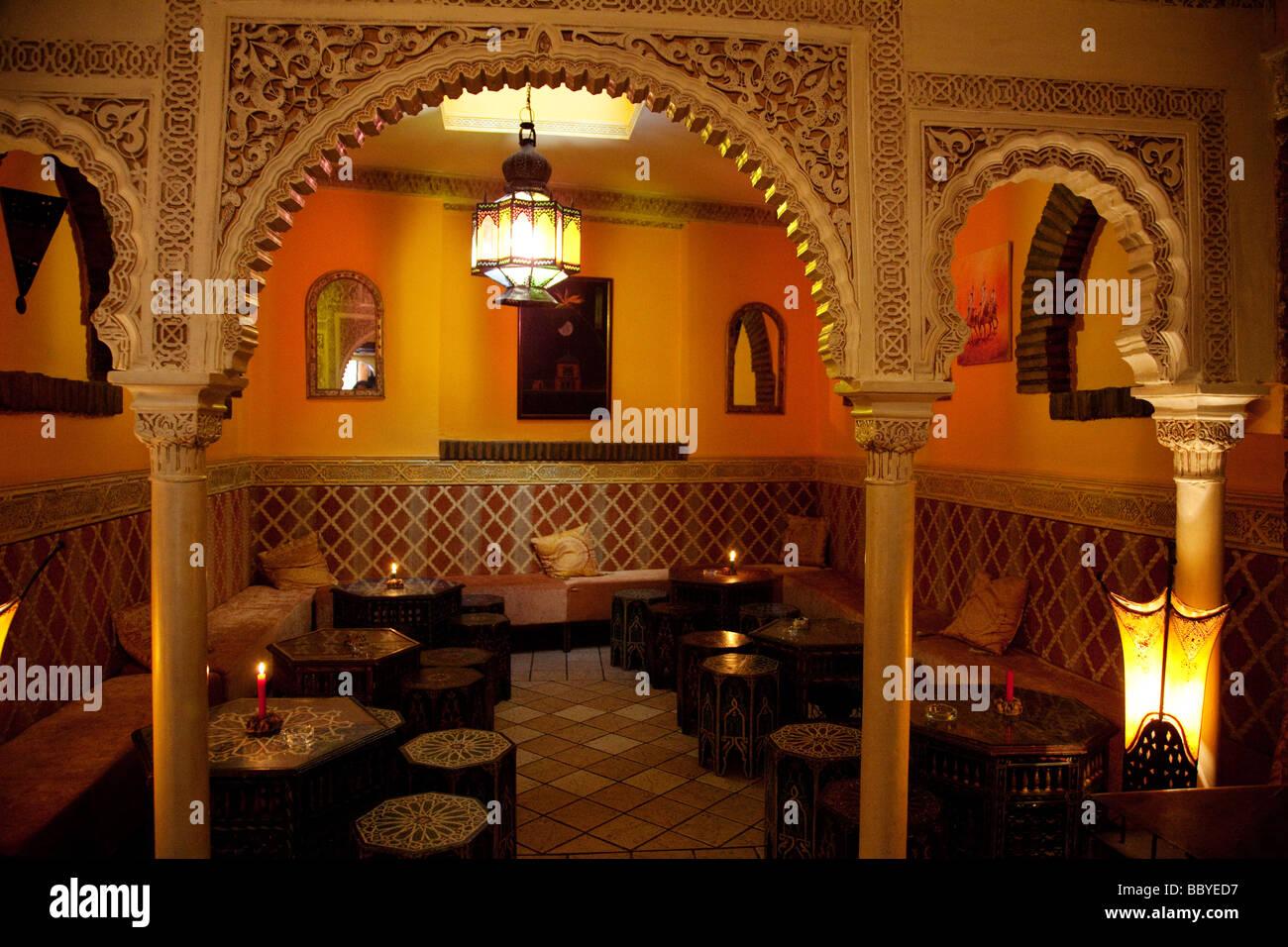 Tetería en Granada Andalucía España Arabic Tea room in Granada Andalusia Spain - Stock Image