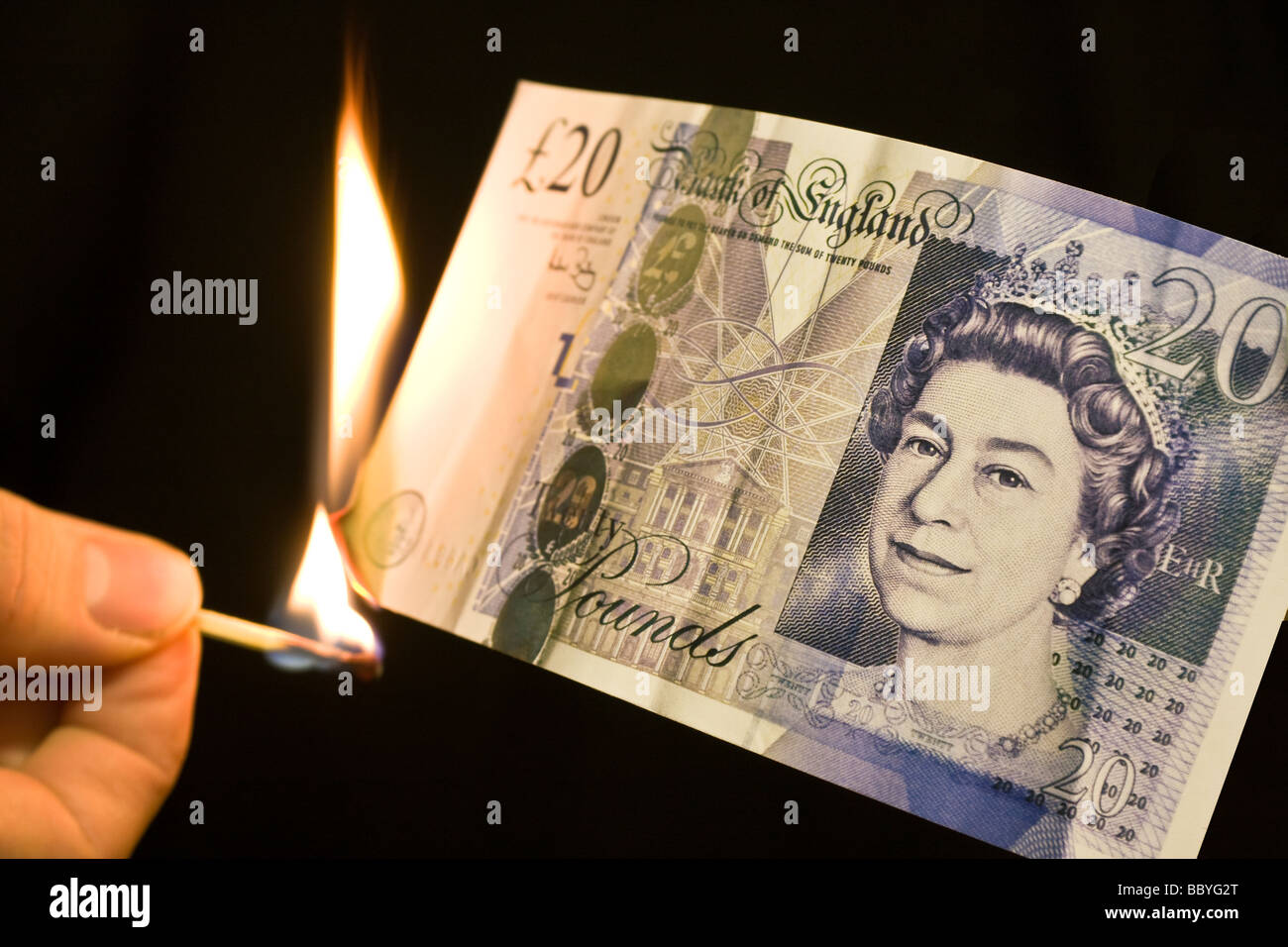 Due to the recent 'credit climate'. I was drawn to trying to show, pictorially, my feeling of the banks - Stock Image