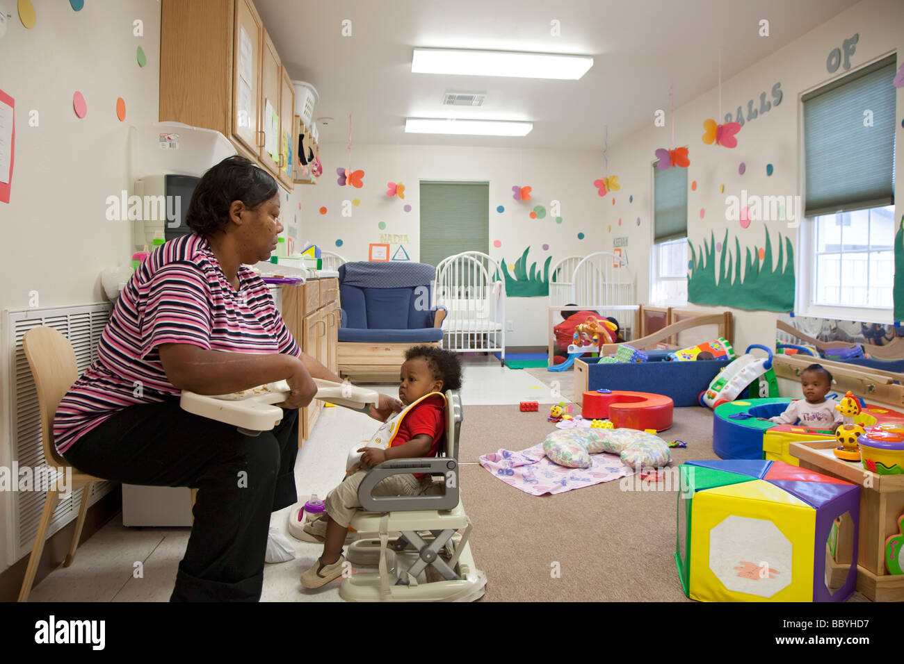 'child care' 'day care' childcare nursery - Stock Image