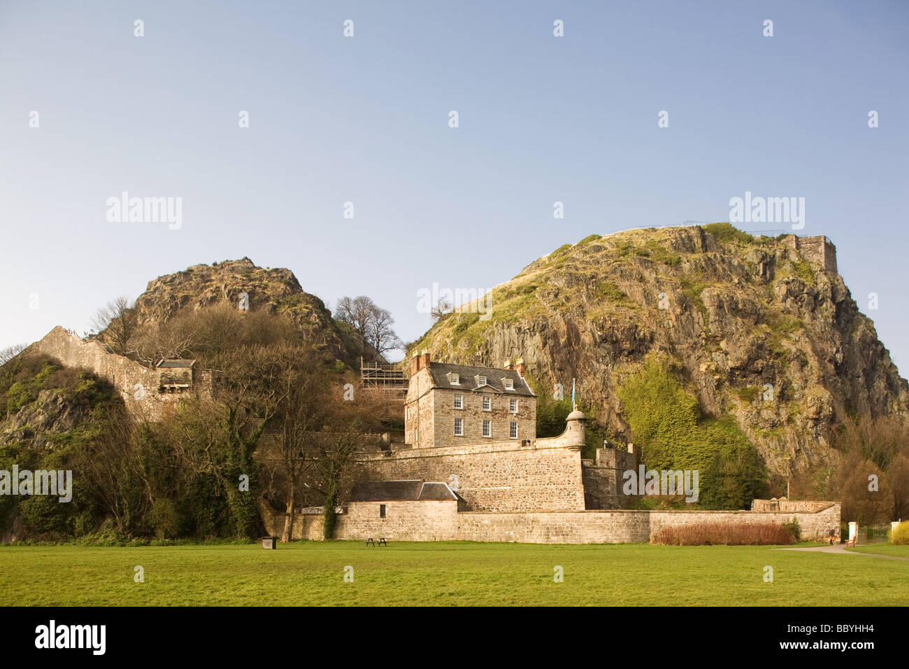 Dumbarton Castle and Rock - Stock Image