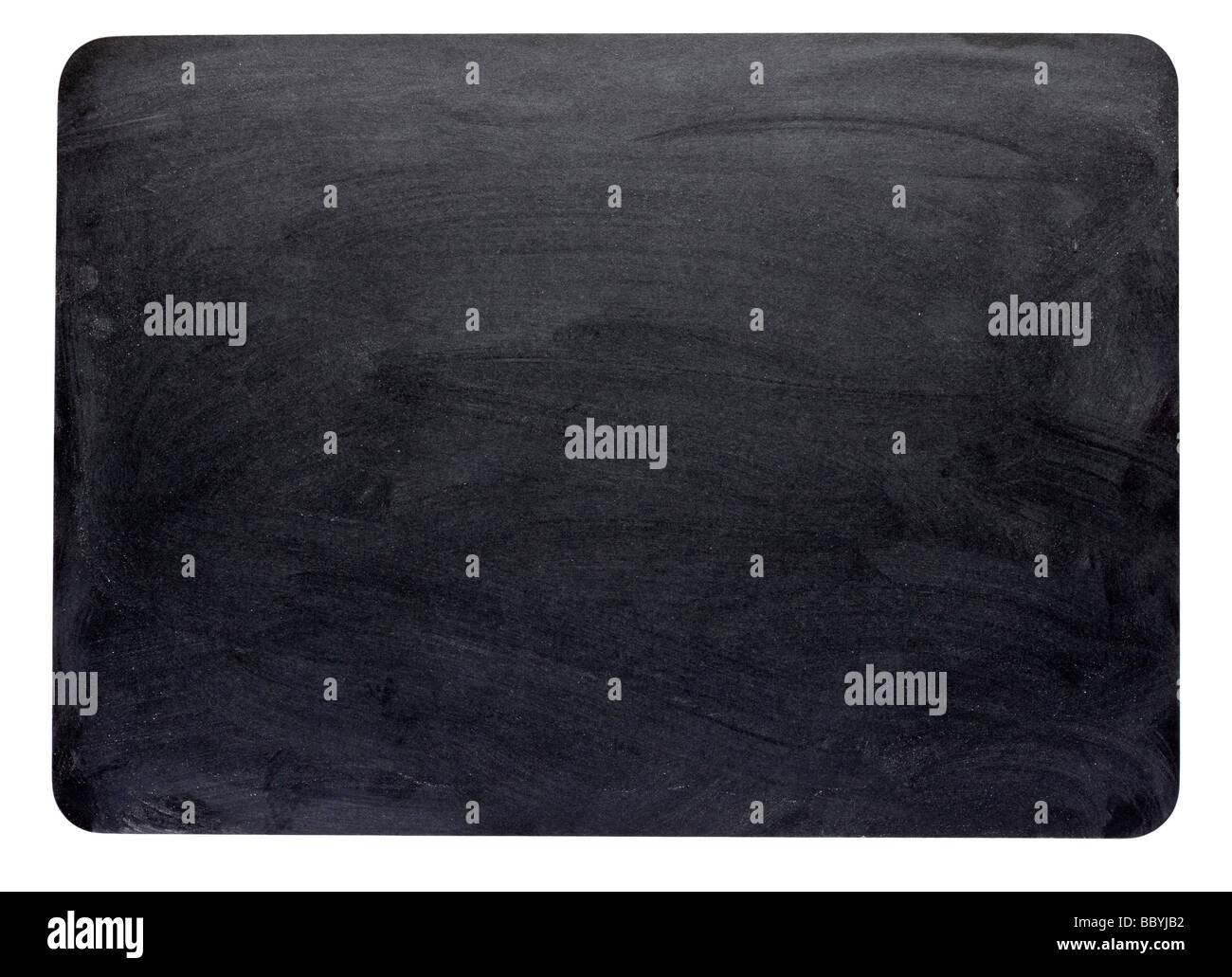Blank blackboard cut out - Stock Image