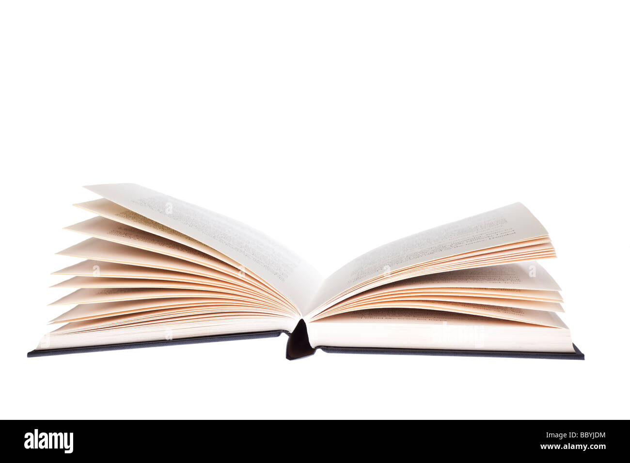 Open book cut out - Stock Image