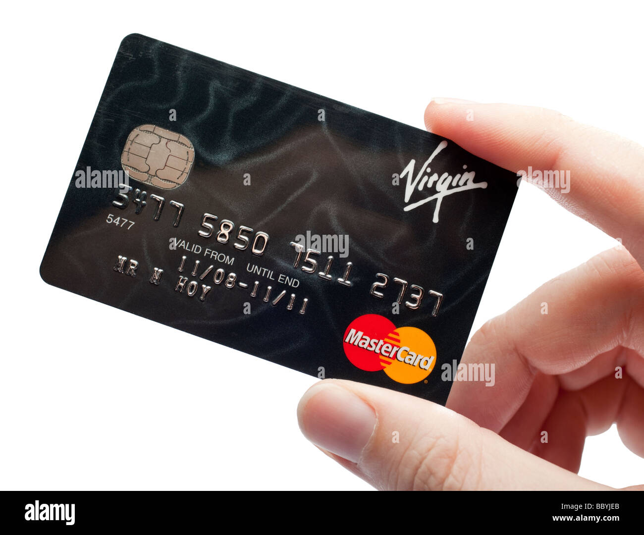 Credit card, hand holding - Stock Image