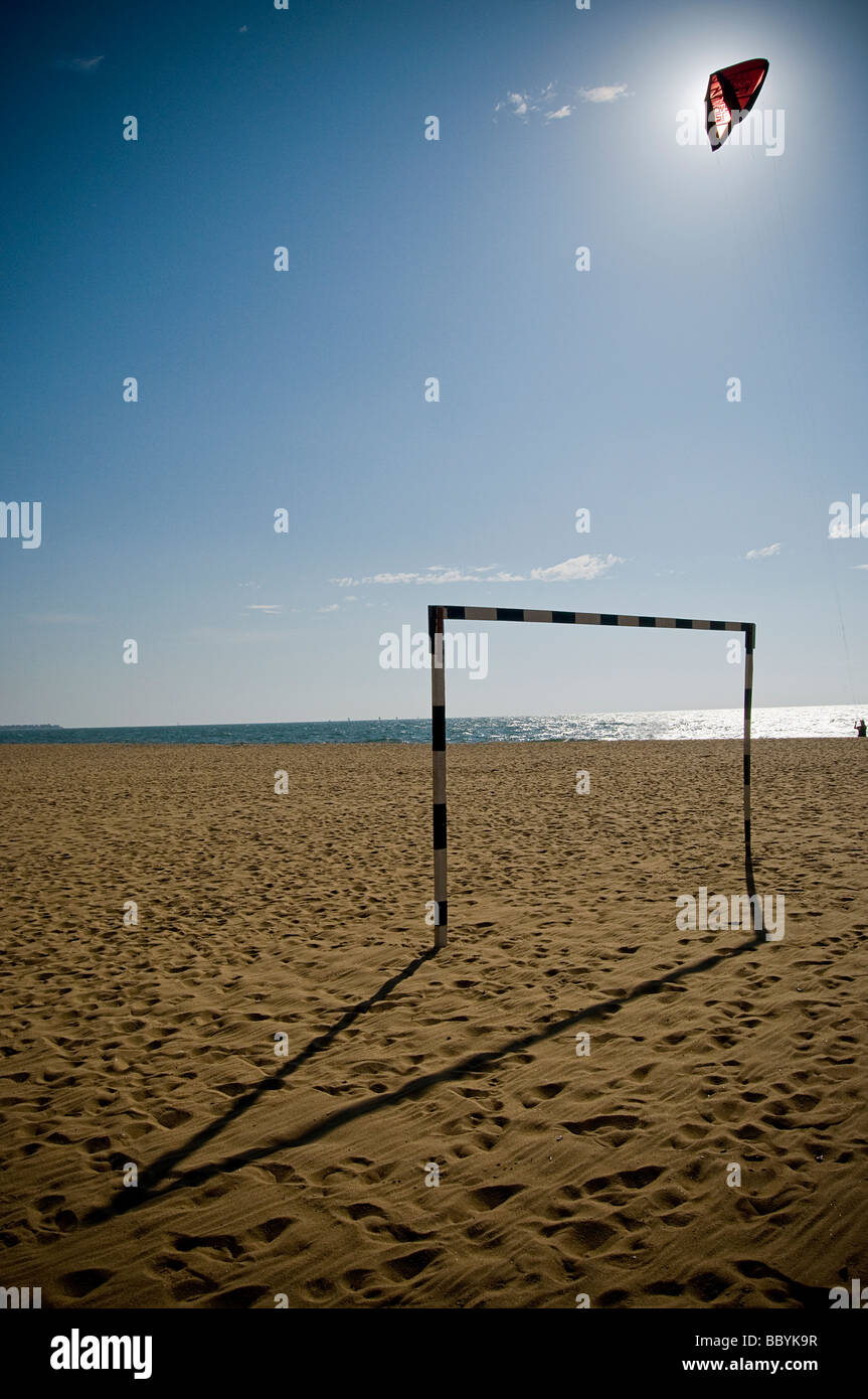 Empty beach in Sri Lanka - Stock Image