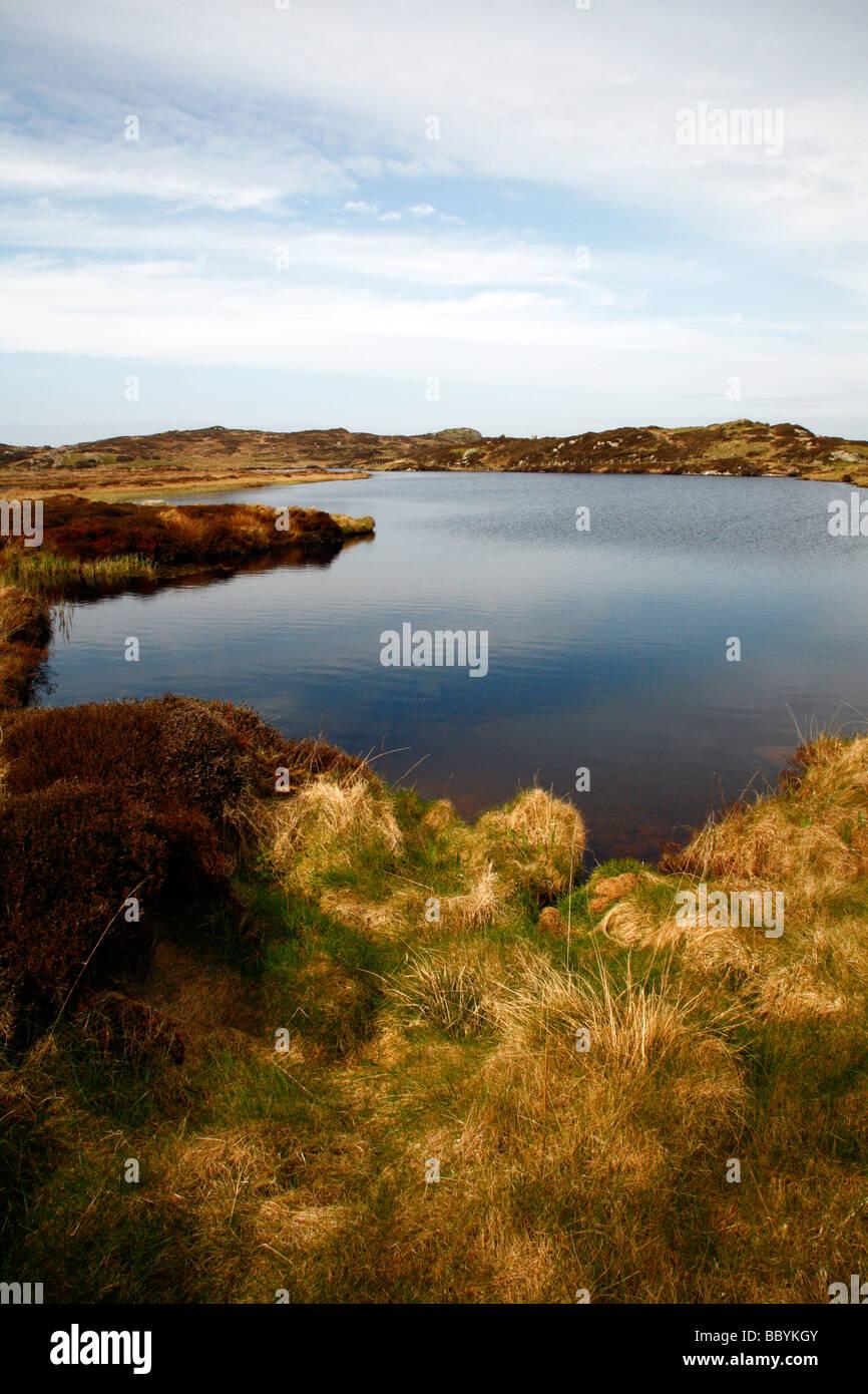 Loch Staoineig,Isle of Iona,Argyll,Inner Hebrides,Scotland,UK. - Stock Image