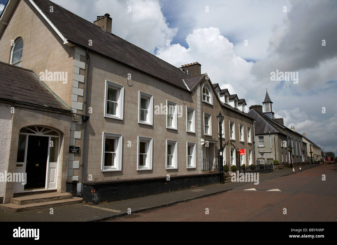 the academy house in 18th century gracehill village a moravian settlement in county antrim northern ireland uk - Stock Image