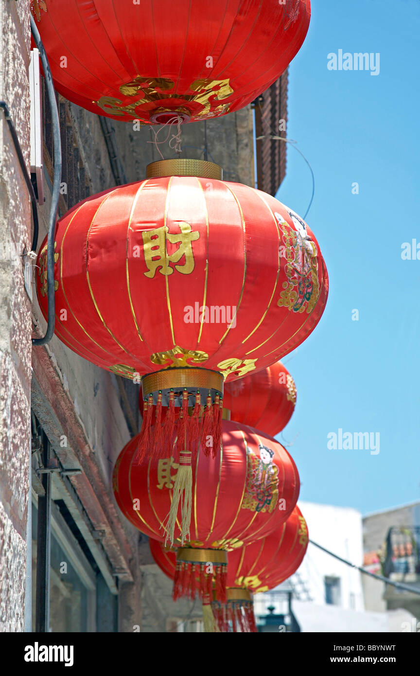 Chinese shop in Ermoupoli - Stock Image