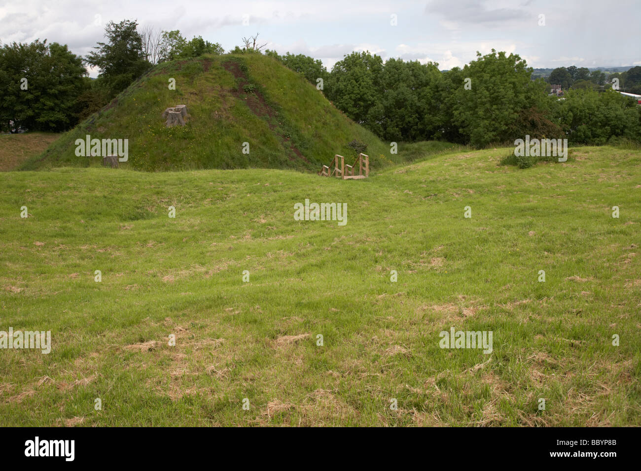 harryville motte and bailey 12th century earthwork ballymena county antrim northern ireland - Stock Image