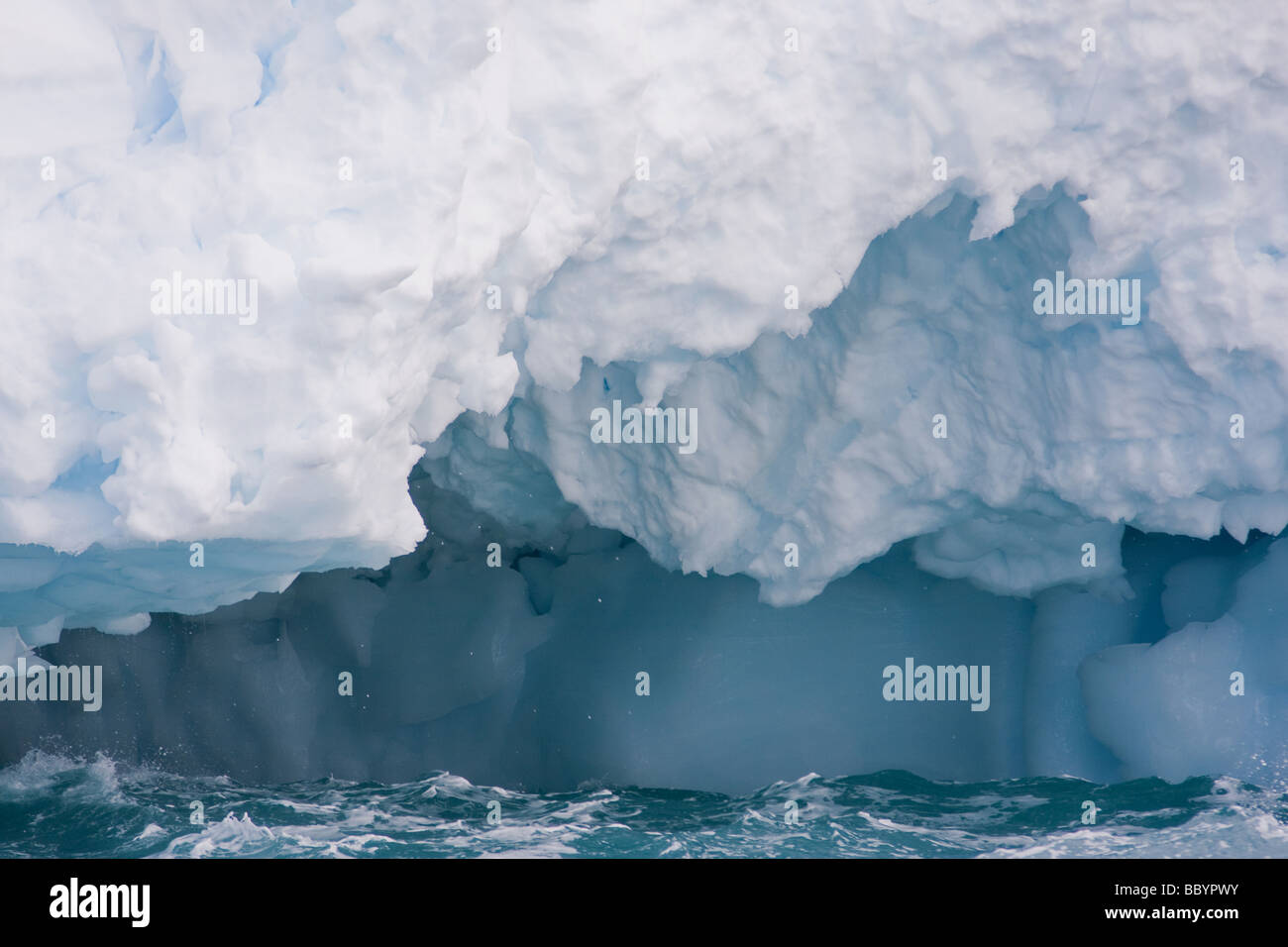 Ice landscapes from Antartica including amazing iceberg structures and features. - Stock Image