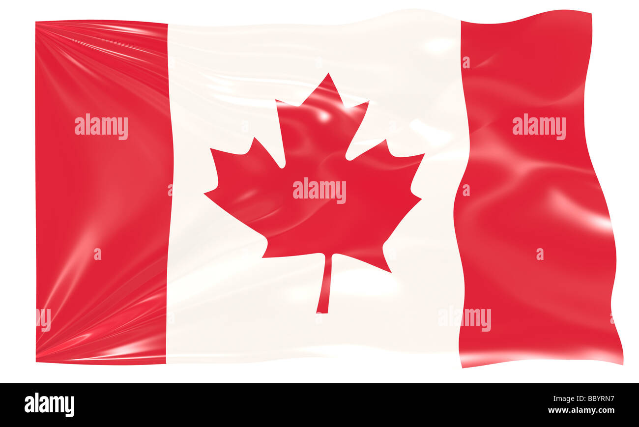 Great Image of the Flag of canada Stock Photo
