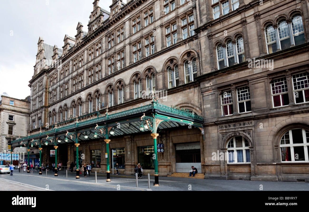 The canopy outside Glasgow Central station - Stock Image