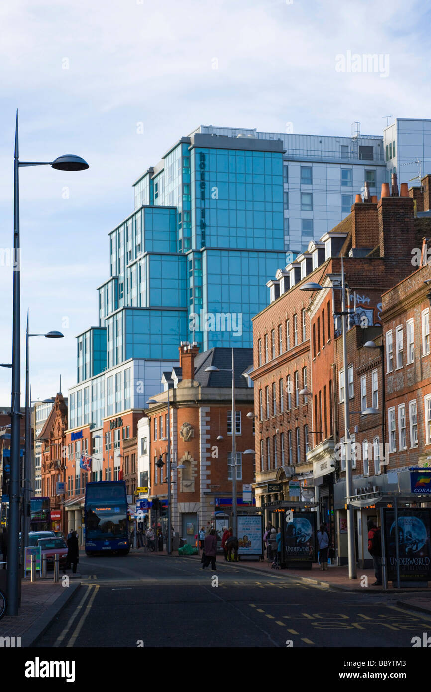 Friar Street with Ibis Hotel, Reading, Berkshire, United Kingdom, Europe - Stock Image