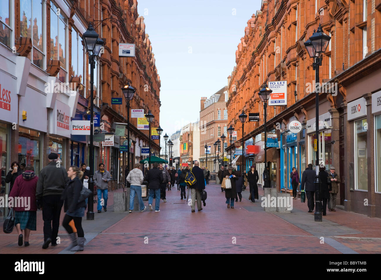 Queen Victoria Street, Reading, Berkshire, United Kingdom, Europe - Stock Image