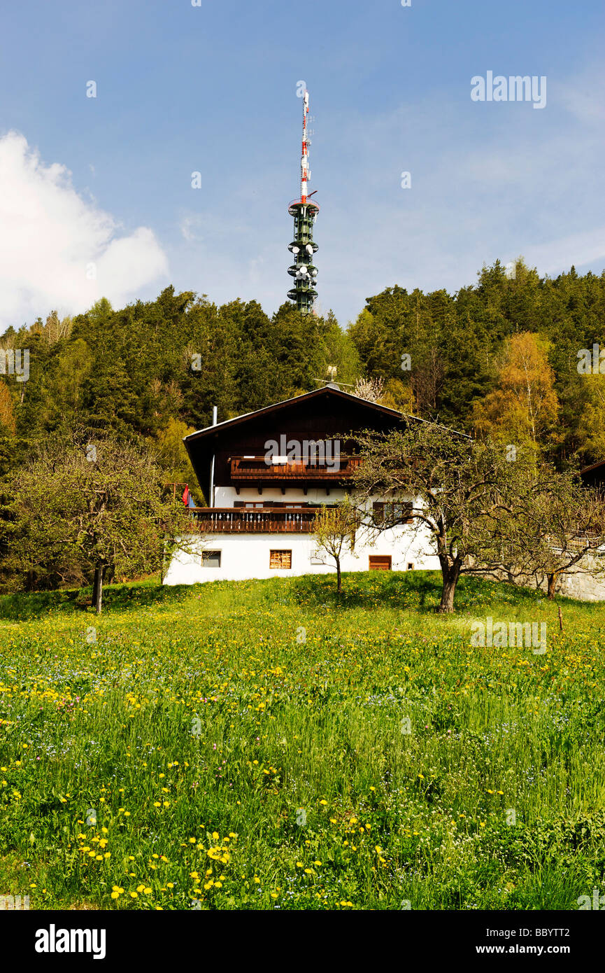 On the trail from Barbian to the waterfalls of the Ganderbach stream, Eisack Valley, South Tyrol, Italy, Europe - Stock Image