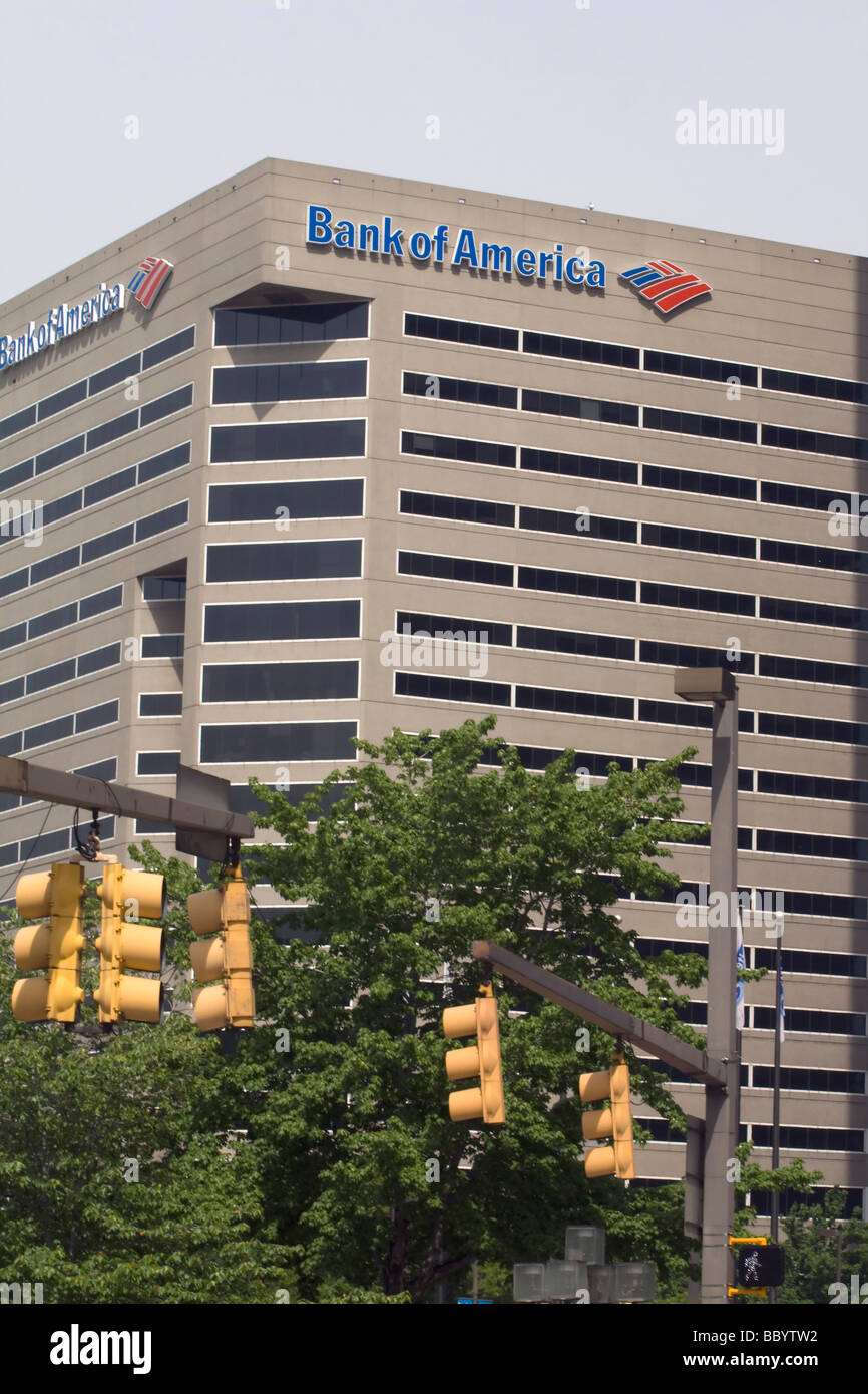 Bank of America office building in Baltimore Maryland, USA - Stock Image