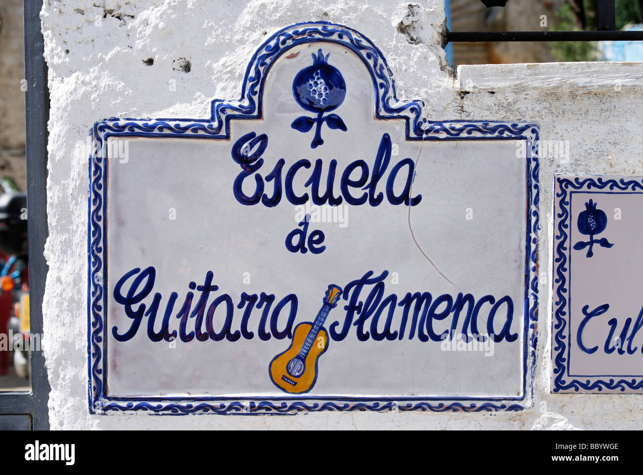 Sign, Albaicin, Granada, Andalusia, Spain, Europe - Stock Image