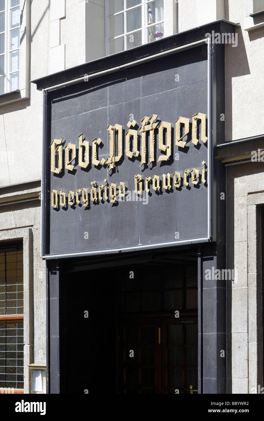 Paeffgen Brauhaus brewery and pub in the Friesenstrasse street in old town, Cologne, Rhineland, North Rhine-Westphalia, - Stock Image