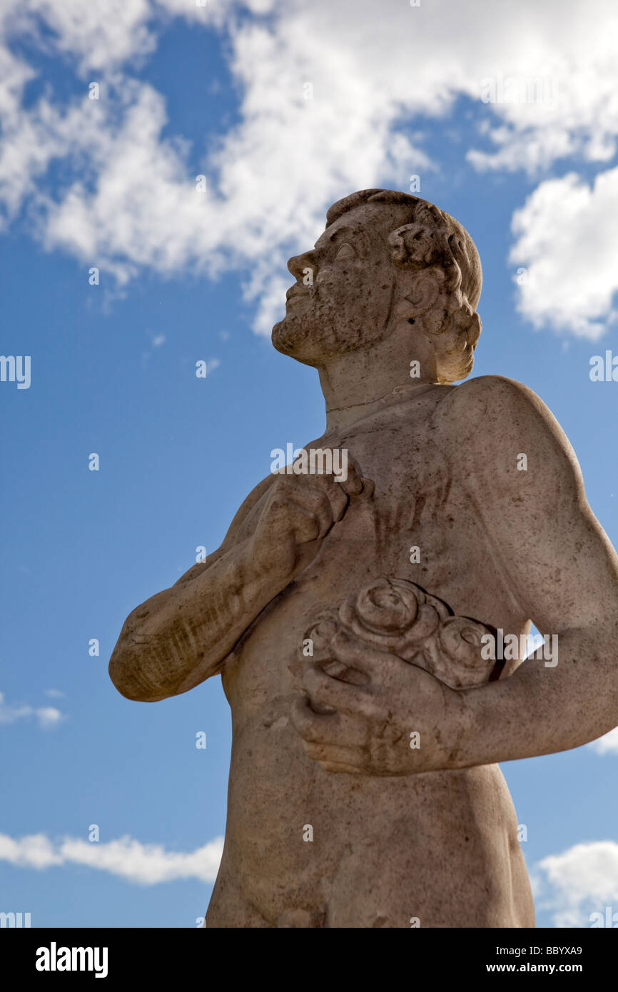 Statue of the Painter, City hall, Stockholm (Sweden) - Stock Image