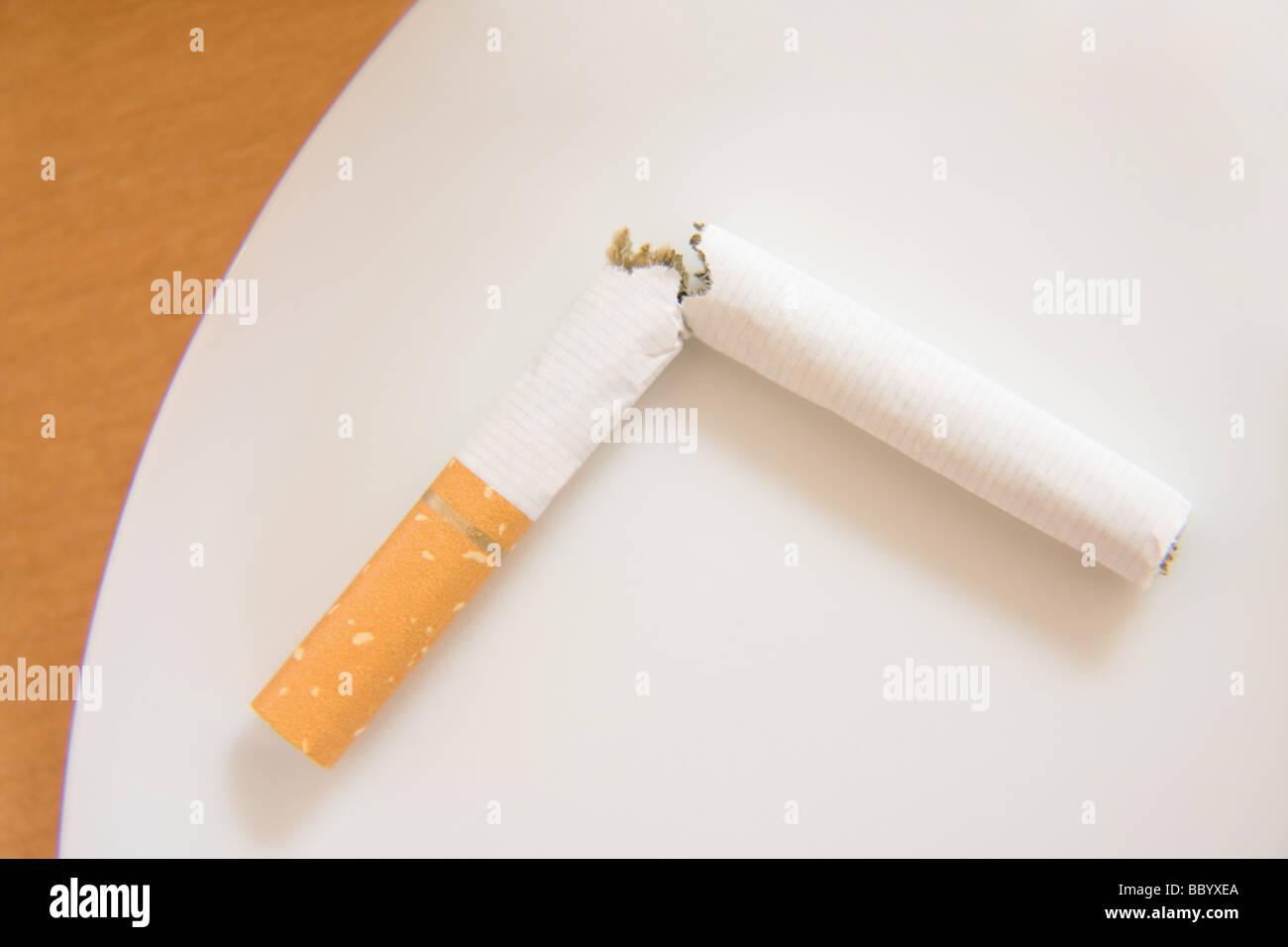 To break the habit of smoking - Stock Image