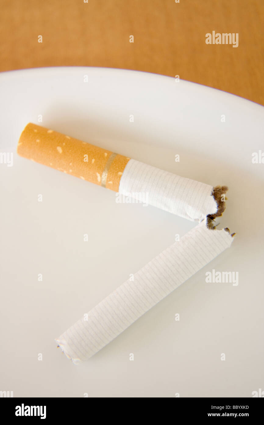 To quit smoking - Stock Image