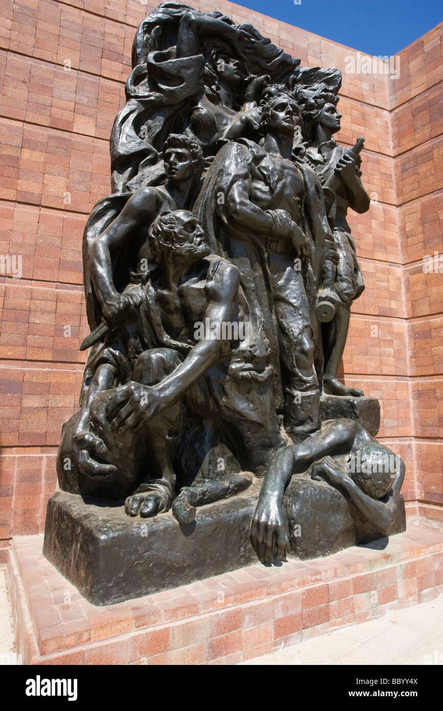 Yad VaShem Yad Va Shem Holocaust Martyrs memorial Israel's official memorial to the Jewish victims Warsaw Ghetto - Stock Image