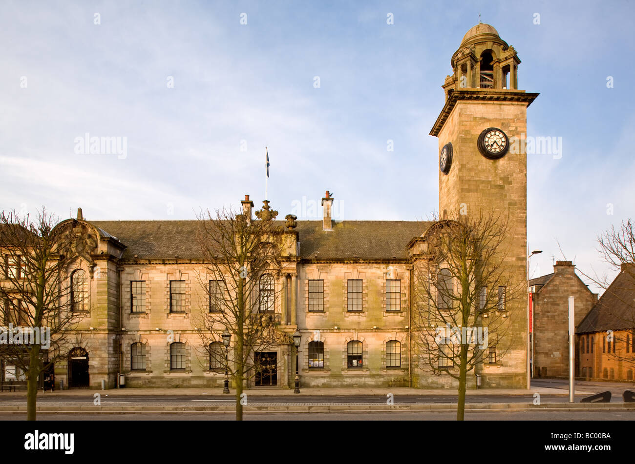 Clydebank Town Hall, Clydebank, Scotland. - Stock Image