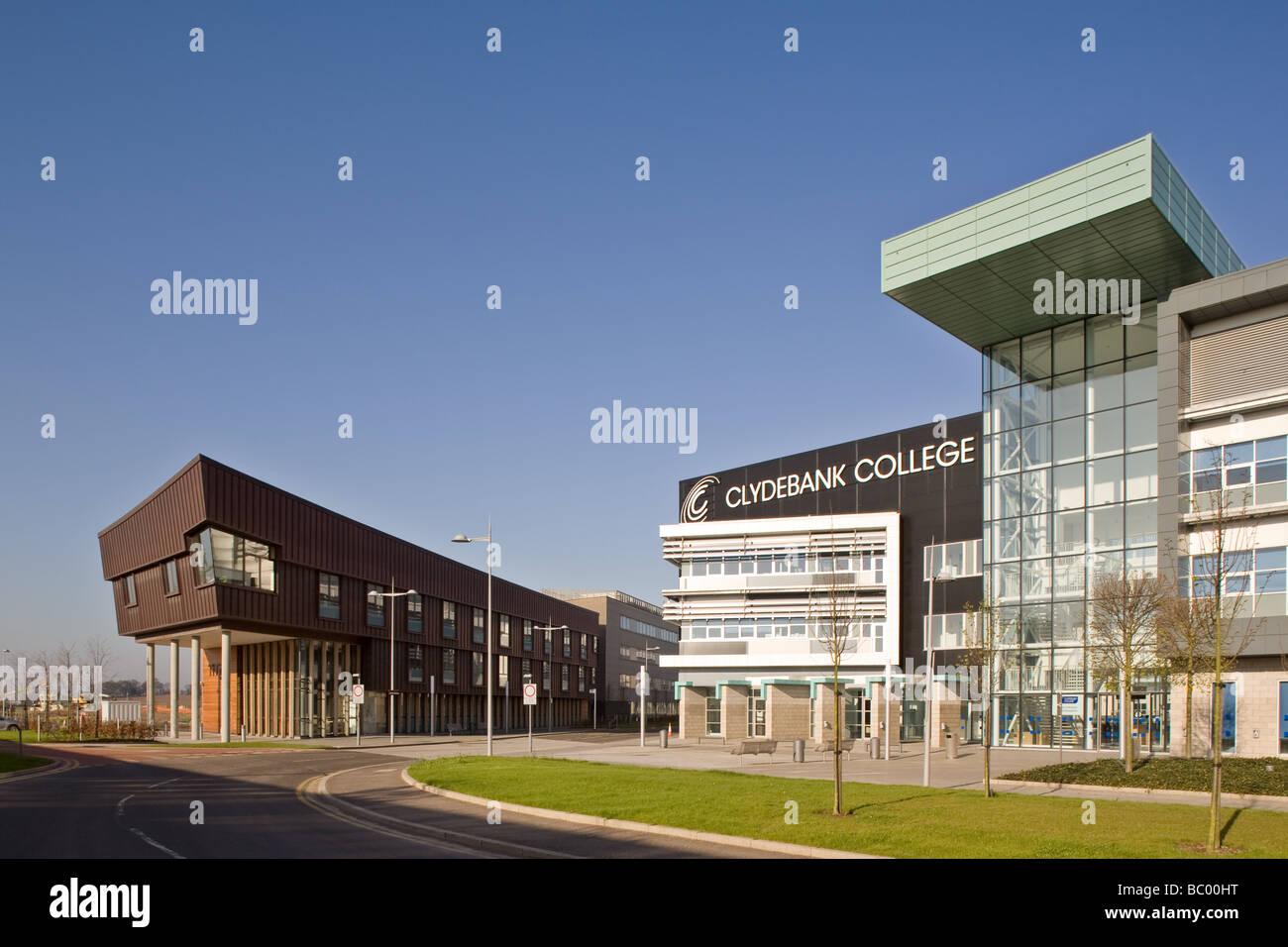 Titan Enterprise Centre and Clydebank College, Clydebank, Scotland. - Stock Image