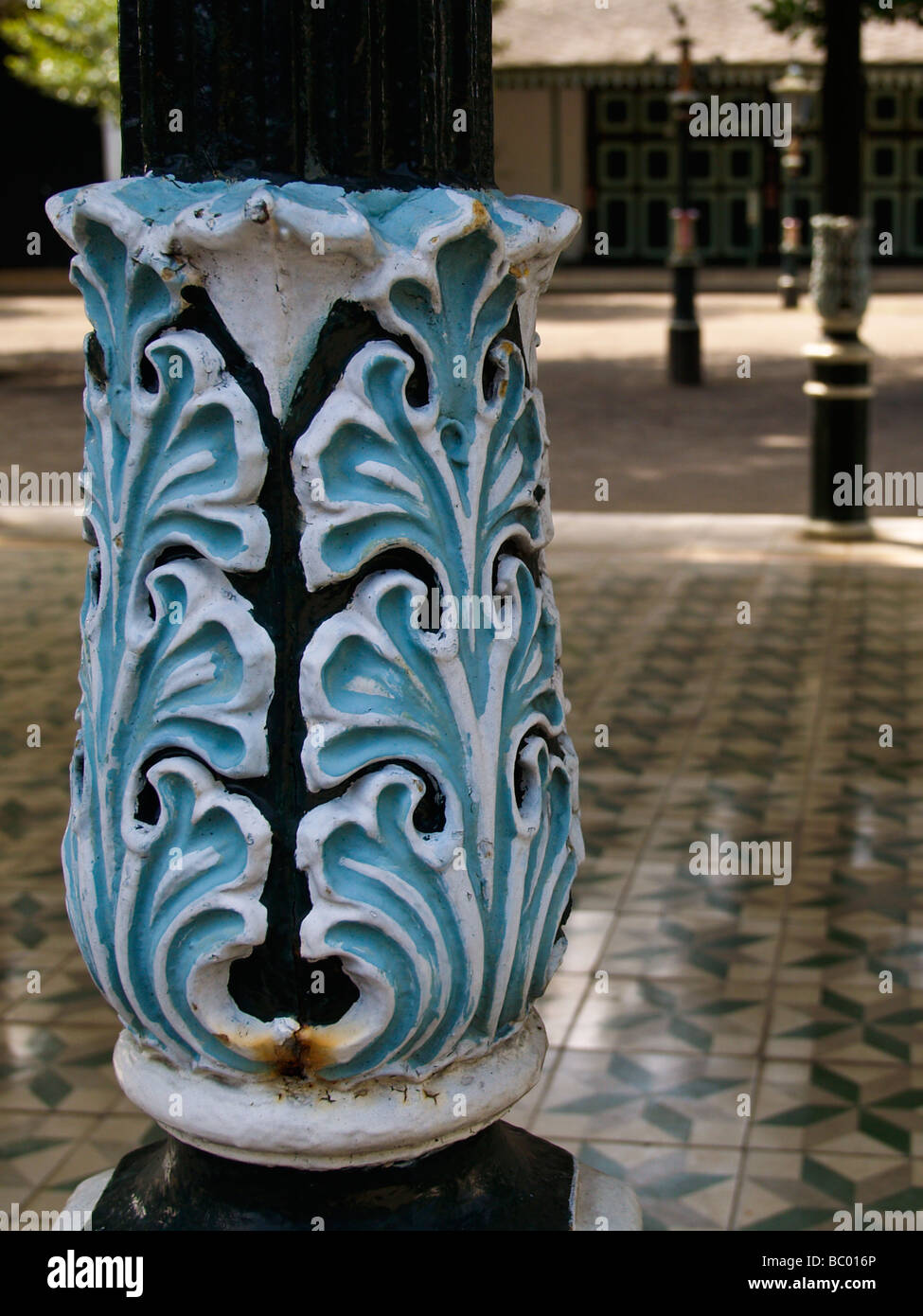 Indonesia travel. Detail on a post. - Stock Image