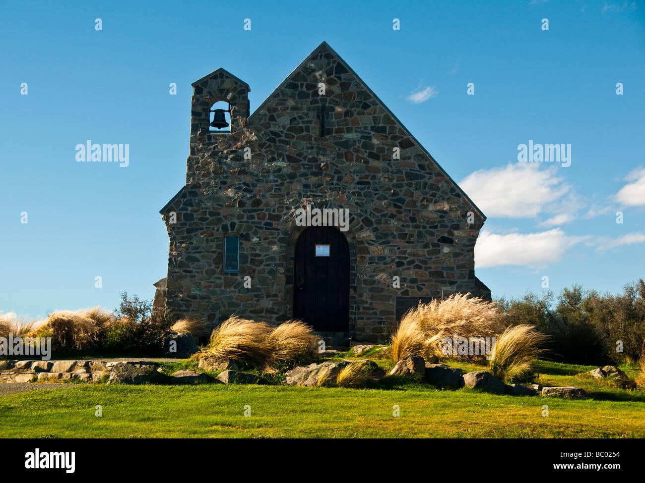 Church of the Good Shepherd Lake Tepako New Zealand - Stock Image